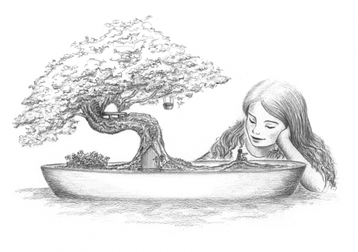 Little friendship - Illustration Graphite
