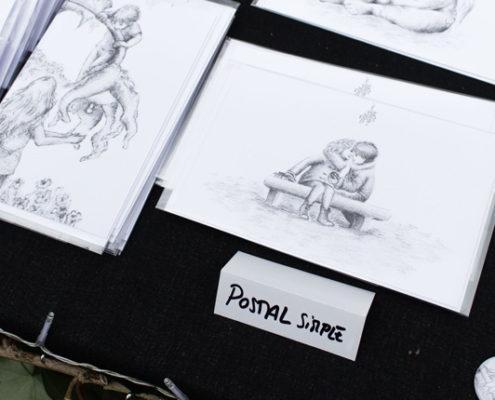 Mis productos ilustrados en el Avalon Summer Faerie Fest - Postales con ilustraciones infantiles de fantasía
