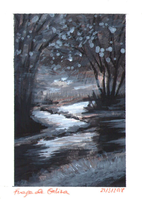 Acrylic Landscape Painting River