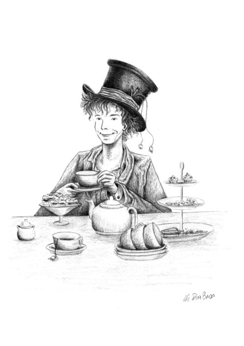 Illustration graphite Mad Hatter
