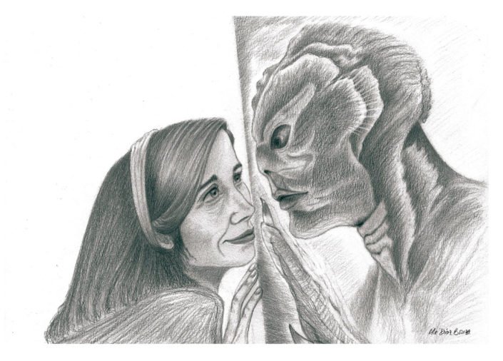 Illustration The Shape of Water graphite