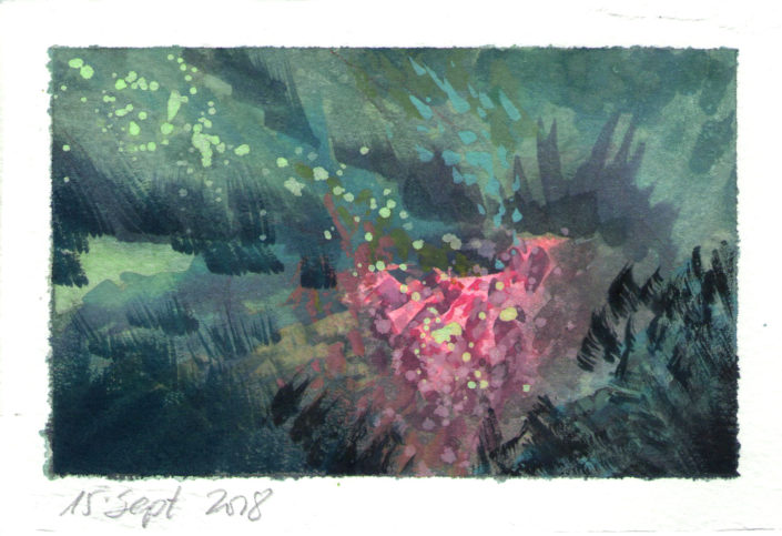 Watercolour Garden Colour Composition Study