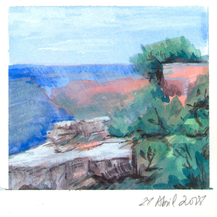 Watercolour landscape painting Grand Canyon