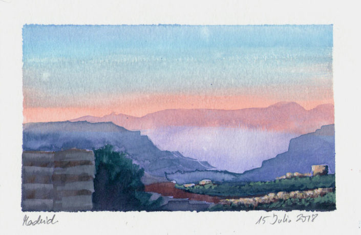 Watercolour Landscape Colour Study Madrid