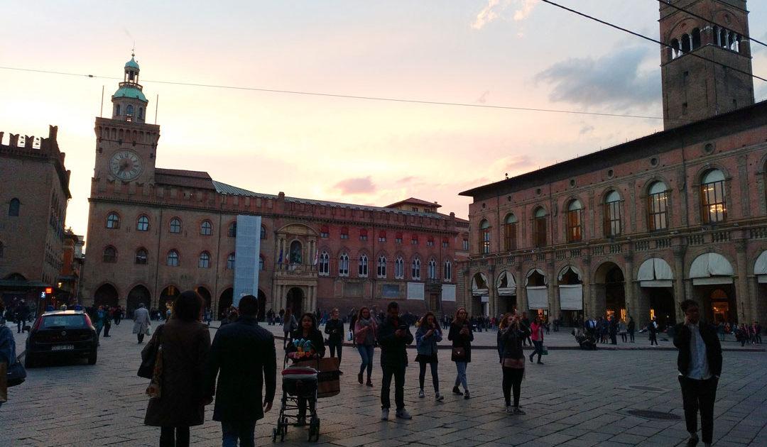 Bologna City at sunset