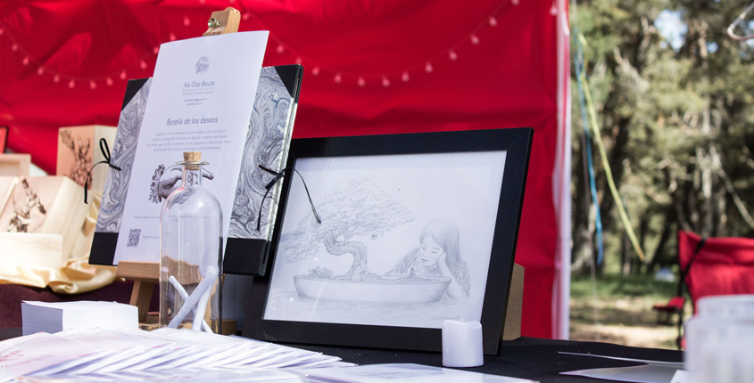 My illustrated products at Avalon Summer Faerie Fest - Children´s Fantasy Illustration - Prints