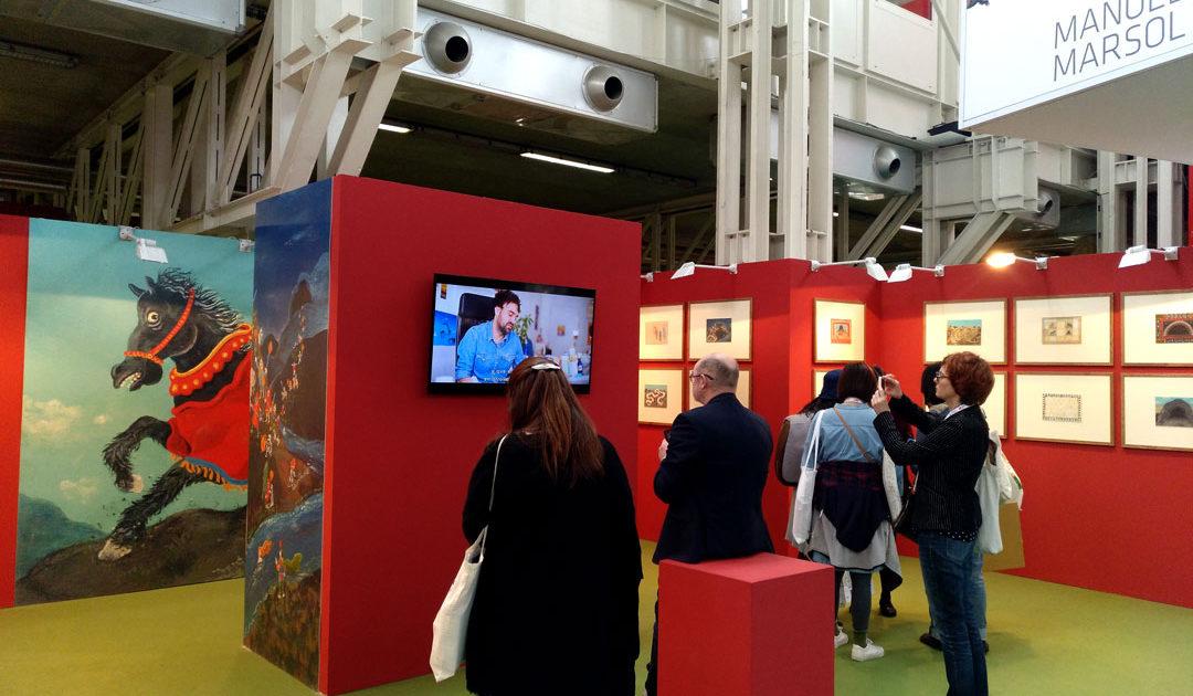 Exposición Manuel Marsol en la Feria del Libro de Bolonia